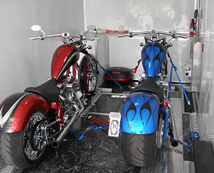 uncrated motorcycle shipping